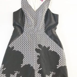 Vince Camuto Dress Gorgeous Black white work 14